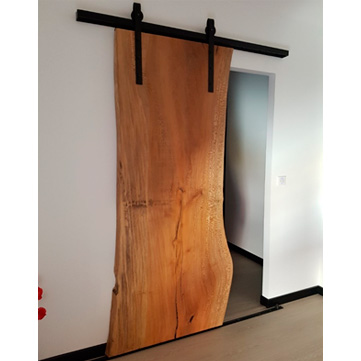porte coulissante suspendue fer et bois