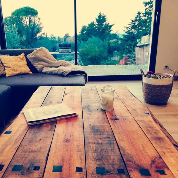 table basse fer et bois modele bauxite AC19-TB01